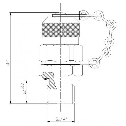 Miniprise de pression à bille, 630 bar maxi, selon ISO 15171-2 (08/2000)