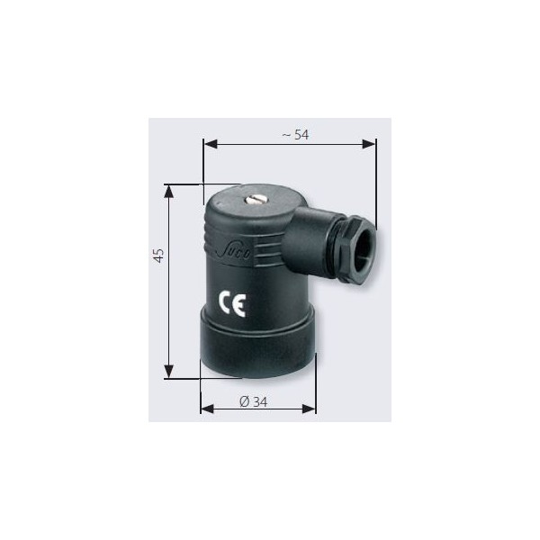 Connecteur pour pressostat, 250 V maxi, IP65