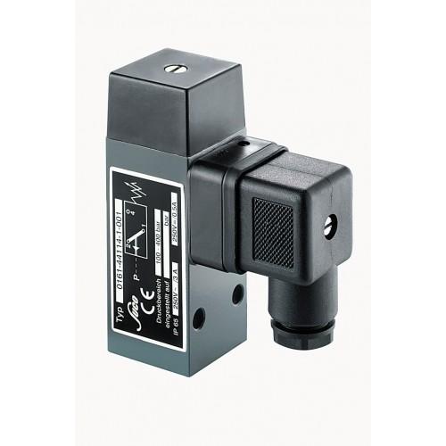 Pressostat à contact inverseur, tarage jusque 100 bar, 250 V maxi, G1/4 femelle