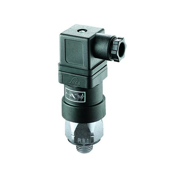 Pressostat à contact inverseur, tarage jusque 100 bar, 250 V maxi, G1/4 mâle, connecteur EN 175301 (DIN 43650)