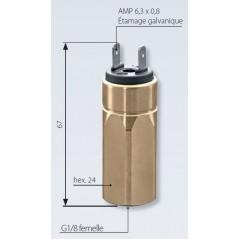 Vacuostat à contact NO ou NF, jusque 950 mbar, 42 V maxi, G1/8 femelle avec mesures