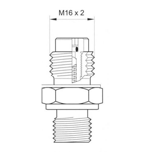 Schéma avec mesures : Miniprise de pression à bille, 630 bar maxi, selon ISO 15171-2 (08/2000)