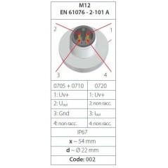 Transmetteur de pression 4...20 mA (2 fils), mesure jusque 600 bar, G1/4 mâle DIN 3852-A, acier inox, spécifications 2/2