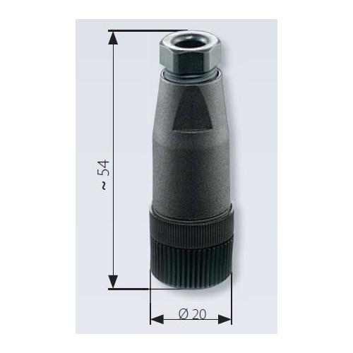 Connecteur M12x1 EN 61071-2-101 D droit pour transmetteur de pression à embase M12x1