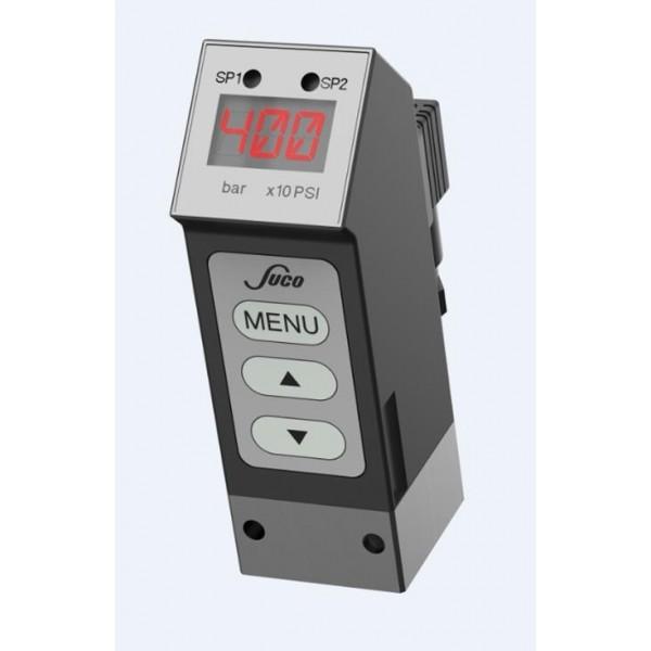 Pressostat électronique avec afficheur à LED, jusque 400 bar, G1/4 femelle, deux seuils programmables, sortie 4...20 mA, NBR