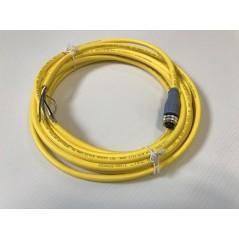 Câble pour débitmètre EF avec afficheur LCD, connecteur M12x1, 4 pôles + blindage, 5 m : photo du câble nu